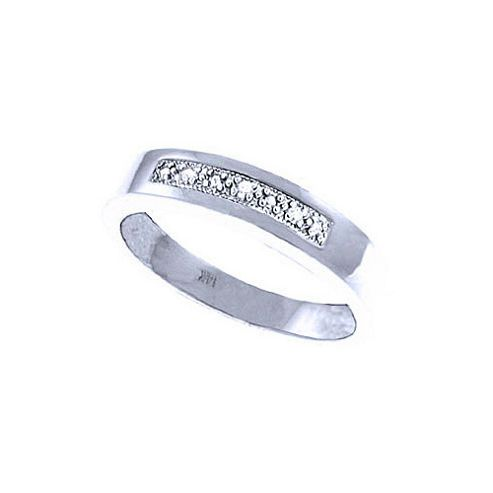 QP Jewellers 0.02ct I-3 Diamond Princess Prestige Ring in 14K White Gold - Size A