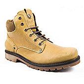Mens Wrangler Newton Honey Camel Casual Boots - Beige