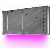 Ambient Audio Demist Bathroom Cabinet With Bluetooth, Shaver & Sensor K126Paud