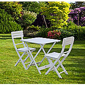 Bentley Garden 3 Piece Wooden Patio Dining Furniture Bistro Set Table & 2 Chairs