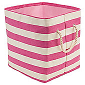 Tesco Bright Pink Stripe Storage Bag