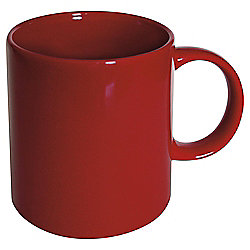 Plain Stoneware Mug, Red