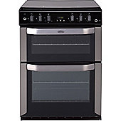 Belling FSG 60 TCLW 60cm Wide Double Cavity Gas Cooker With LED Minute Minder - Stainless Steel