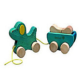 Everearth Pull Along Dog And Bone Wooden Toy - Suitable - 18 Months +
