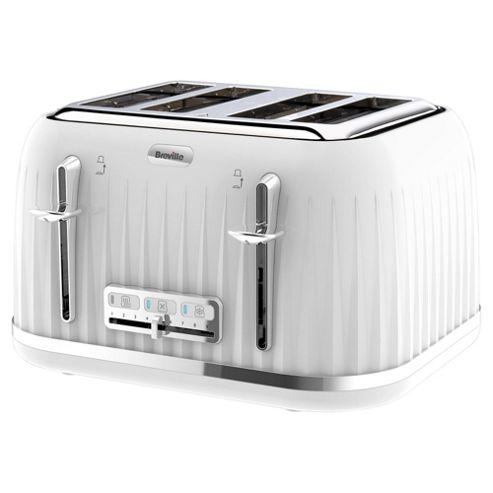 ... Retro 4 Slice Toaster - White from our Toasters range - Tesco