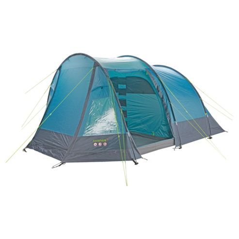 Gelert Atlantis 5-Person Tunnel Tent, Aegean Blue/Cameo Blue/Charcoal