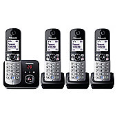 Panasonic KX-TG6824 Quad Cordless Phone - Black