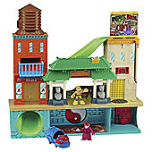 Teenage Mutant Ninja Turtles Half- Shell Heroes Super Sewer Head Quarters with Mikey and Splinter