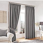 Curtina Lincoln Silver 90x90 inches (228x228cm) 3 Pencil Pleat Curtains