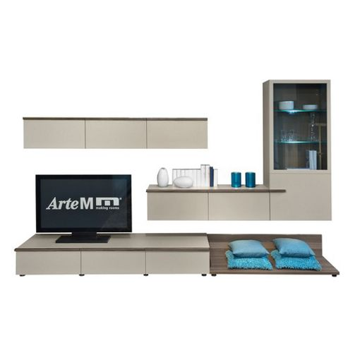buy arte m linea entertainment centre stone grey high gloss from our entertainment centers. Black Bedroom Furniture Sets. Home Design Ideas