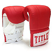 Title Boxing Bag Gloves - Red