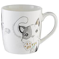Patterned Cats Mug
