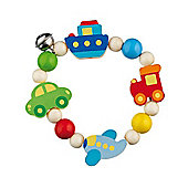 Heimess 735990 Wooden Elasticated Touch Ring Rattle (Vehicles)