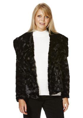 Yumi Faux Fur Jacket, Women's, Size: 12