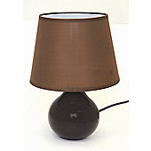Home Essence Berry Ceramic 40W Table Lamp in Brown