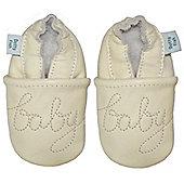Dotty Fish Soft Leather Baby Shoe - Cream Baby Baby - Cream