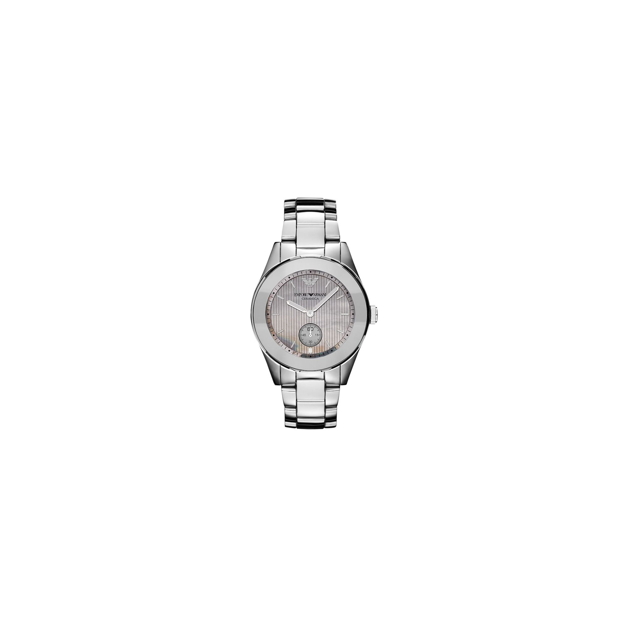 Emporio Armani Ladies Leo Ceramic Watch AR1463 at Tesco Direct