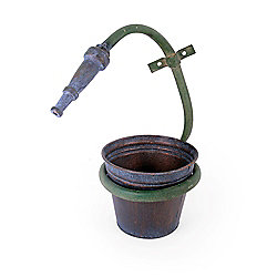 Unusual Small Metal Wall Mountable Hose Pipe Design Plant Pot Holder