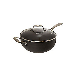 Linea Excellence 26cm Chefs Pan With Glass Lid