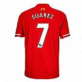 2013-14 Liverpool Home Shirt (Suarez 7) - Kids - Red