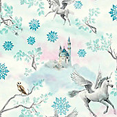 Fairytale Unicorn Wallpaper - Blue - Arthouse 667800