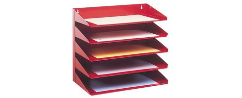 Avery 5-Tier Steel Letter Rack Red 605