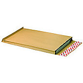 New Guardian Envelope Heavyweight Peel/Seal Gusset 25mm 130gsm Manilla C4 [Pack 100]