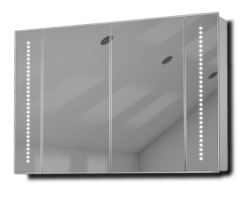 buy star led illuminated bathroom mirror cabinet with sensor shaver