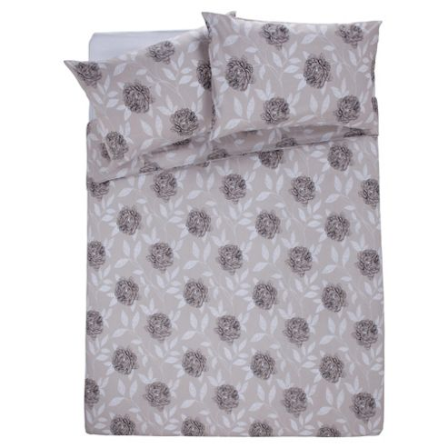 Tesco Floral Trail King Size Duvet Set, Neutral