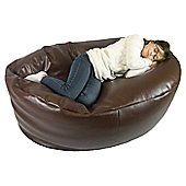 Ashcroft Indoor Medium Bean Bag Sofa - Brown