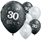 11` 30th Around Black & Silver (25pk)