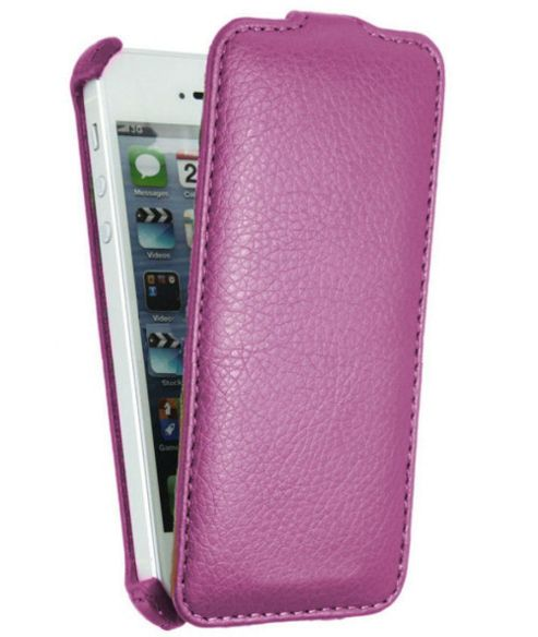 Neo-ORBIT Vertical Smartphone Flip Case, Purple - Apple iPhone 5