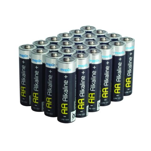 24 AA Pack Maplin Battery Alkaline Extra Long-Life