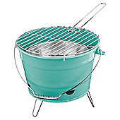 Tesco Small Charcoal Bucket BBQ, Turquoise