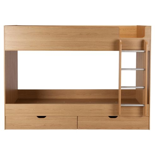 Jasper Bunk bed Oak-effect
