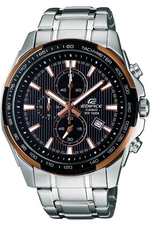 Casio Gents Edifice Stainless Steel Bracelet Watch EF-566D-1A5VEF