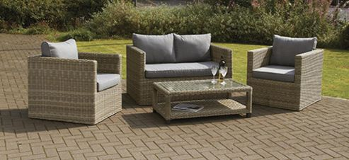 buy wentworth 4pc fixed sofa set from our rattan garden. Black Bedroom Furniture Sets. Home Design Ideas
