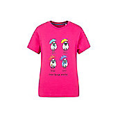 Great British Weather Kids Childrens Boys Girls Short Sleeve T-Shirt Tee Shirt - Pink