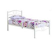 Frank Bosworth Varna Single Bed Frame - White
