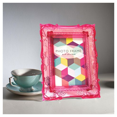 Gallery Baroque Frame 4x6 Pink