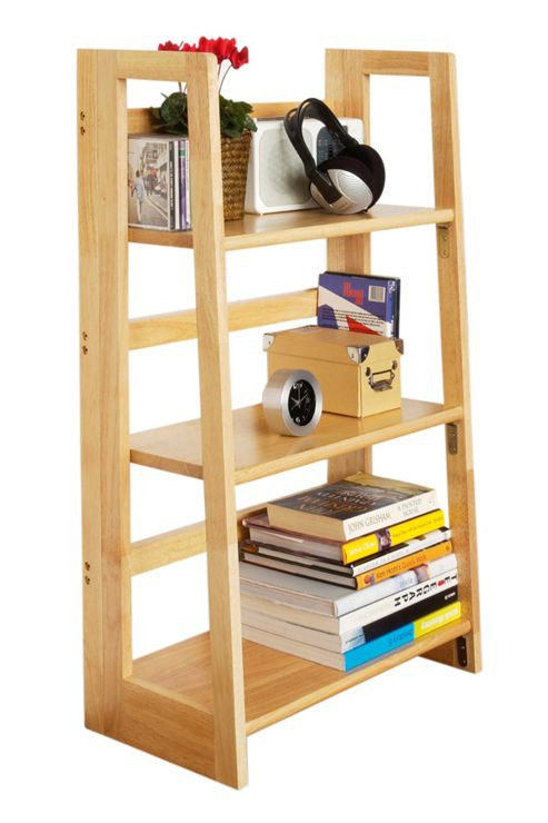 Premier Housewares Three Tier Folding Book Shelves - Large