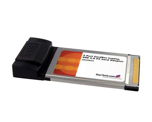 StarTech.com 2 Port CardBus Laptop USB 2.0 PC Card Adapter - USB adapter - CardBus - USB, Hi-Speed USB - 2 ports