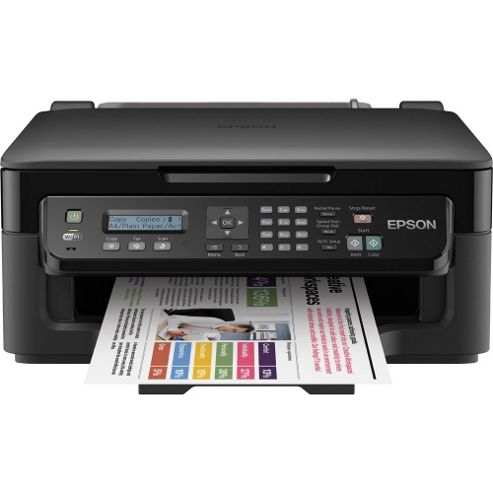 Epson Workforce WF-2510W, Wireless All-in-One Inkjet Colour Printer, A4 - Black
