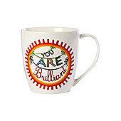 Linea By Mary Fellows You Are Brilliant Mug In White New