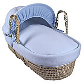Clair de Lune Palm Moses Basket (Cotton Candy Blue)