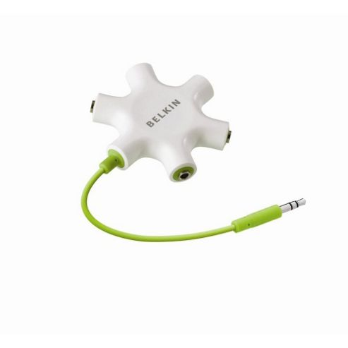 Belkin Rockstar F8Z274EA Multi Headphone Splitter Green and White