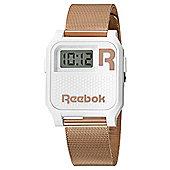 Reebok Vintage Nerd Unisex Rose Gold Ion-plated Alarm Watch RC-VNE-U9-PWS3-W3