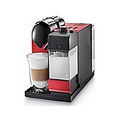 Delonghi EN520R Lattissima + Nespresso System Coffee Maker in Black & Red