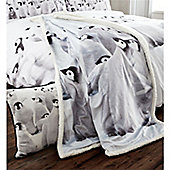 Catherine Lansfield Penguin Colony Sherpa Throw