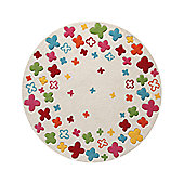 Esprit Bloom Field Beige Kids Round Rug
